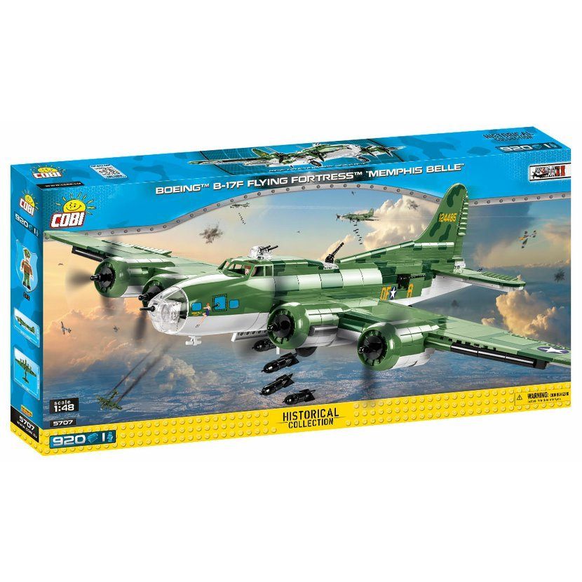 "Cobi 5707 SMALL ARMY – II WW Boeing B-17F Flying Fortress ""Memphis Belle"", 1 : 48, 920 k, 1 f"