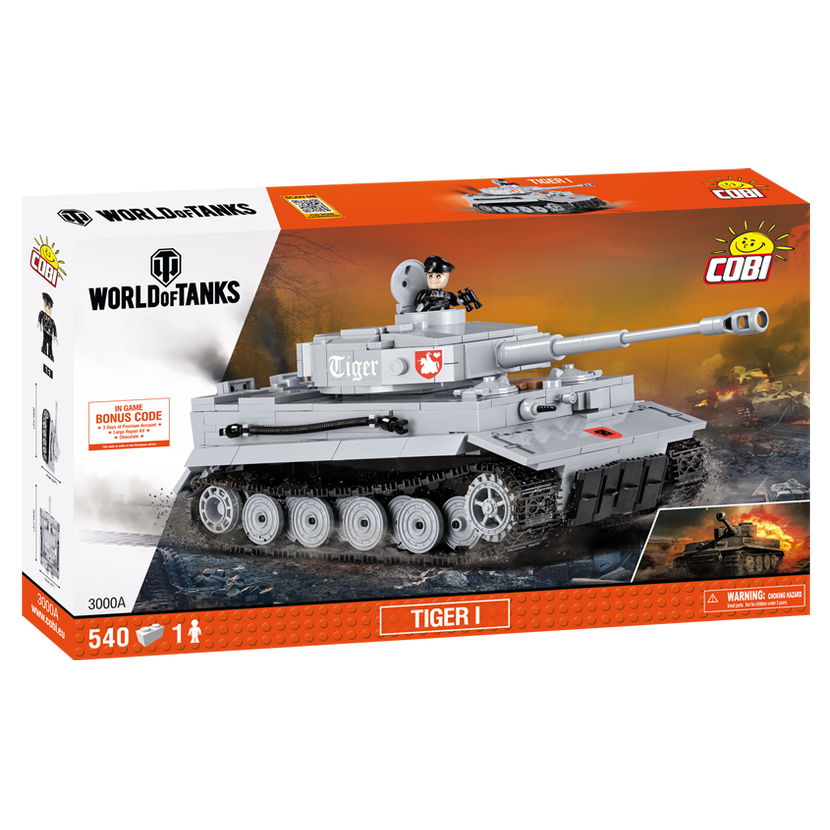 Cobi 3000A World of Tanks Tiger I 540 k, 1 f