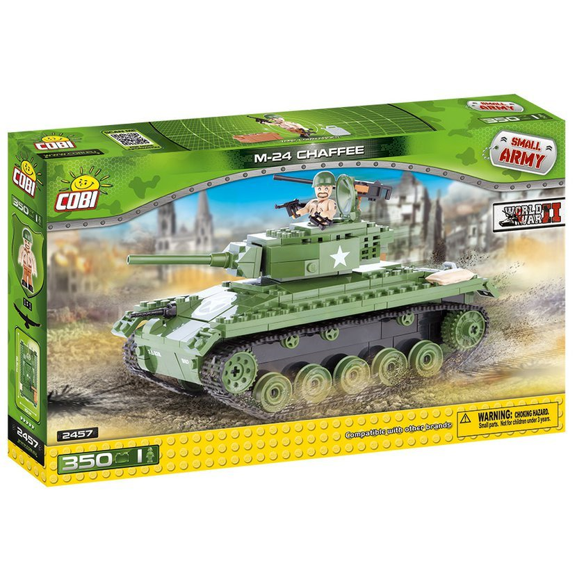 SMALL ARMY - II WW Tank M24 Chaffee 350 k, 1 f