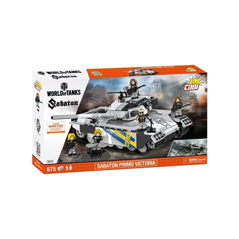 Cobi 3034 World of Tanks Sabaton Primo Victoria, 675 k, 5 f