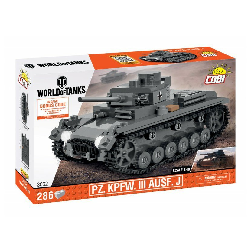 Cobi 3062 World of Tanks – Pz. Kpfw. III Ausf. J, 1:48, 286 k