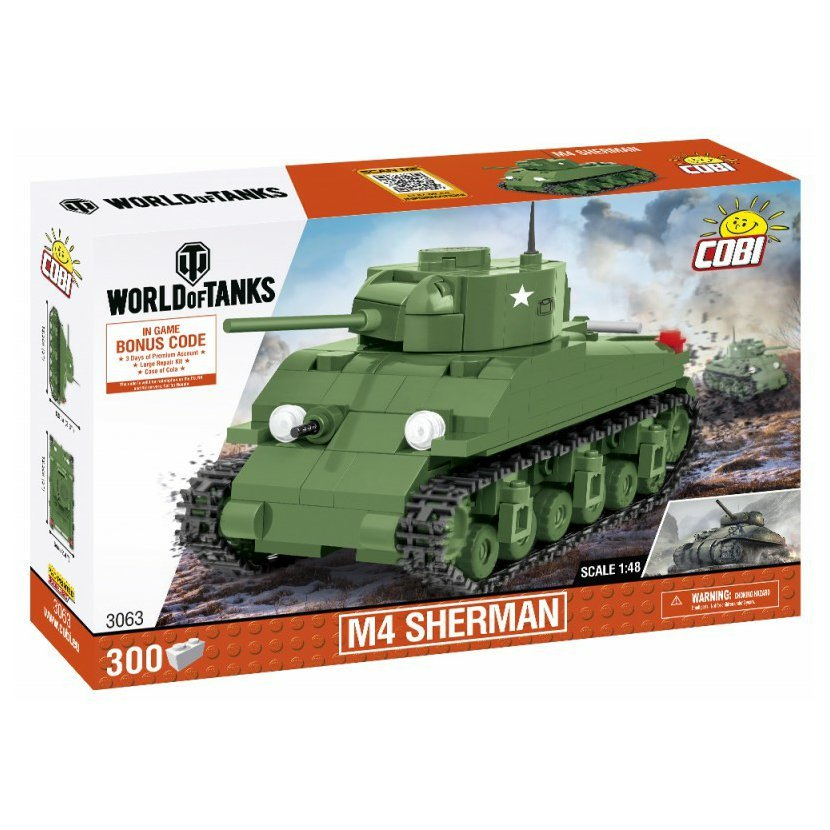 Cobi 3063 World of Tanks – M4 Sherman, 1:48, 300 k
