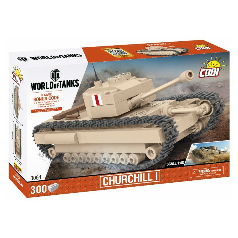 Cobi 3064 World of Tanks – Churchill I, 1:48, 300 k
